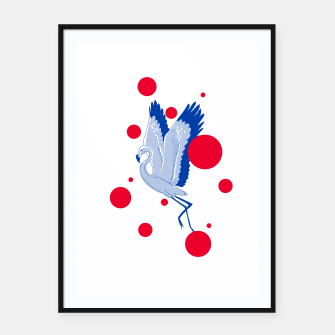 Thumbnail image of blue flamingo Framed poster, Live Heroes