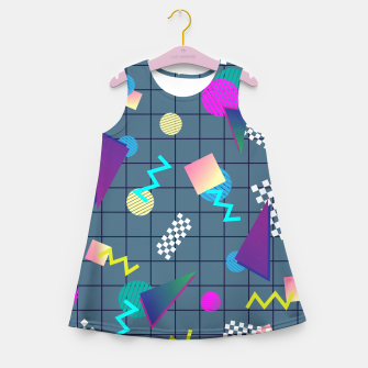 Miniaturka Back to the Eighties Girl's summer dress, Live Heroes