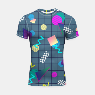 Thumbnail image of Back to the Eighties Shortsleeve rashguard, Live Heroes