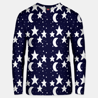 Starry Night Cartoon Print Pattern Unisex sweater obraz miniatury