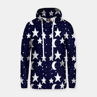 Starry Night Cartoon Print Pattern Hoodie obraz miniatury