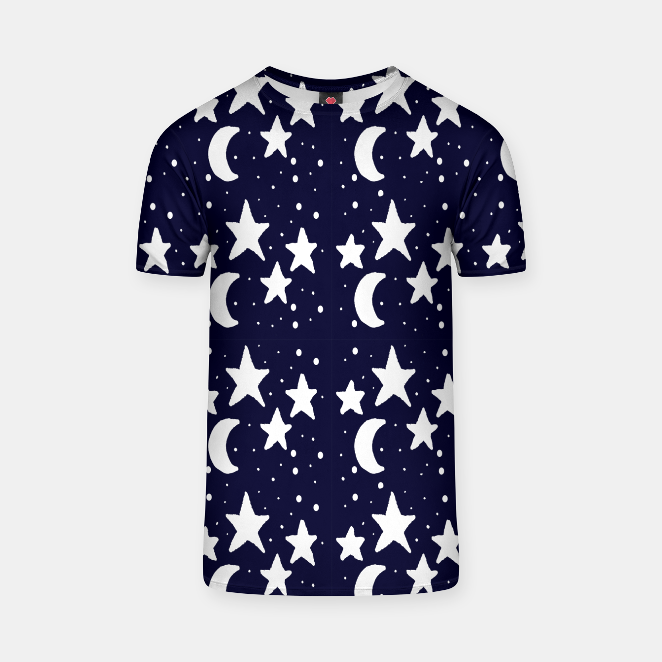 Zdjęcie Starry Night Cartoon Print Pattern T-shirt - Live Heroes