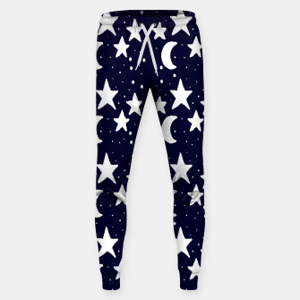 Starry Night Cartoon Print Pattern Sweatpants obraz miniatury