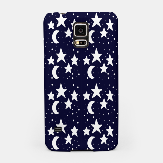 Starry Night Cartoon Print Pattern Samsung Case obraz miniatury