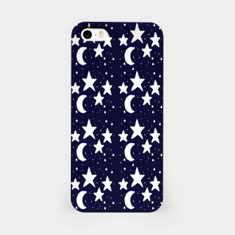 Starry Night Cartoon Print Pattern iPhone Case obraz miniatury
