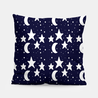 Starry Night Cartoon Print Pattern Pillow obraz miniatury