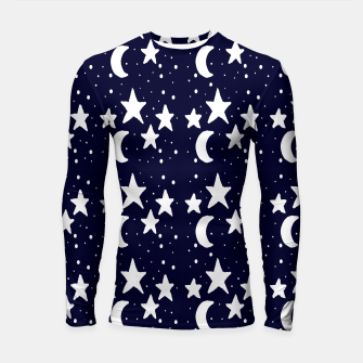 Starry Night Cartoon Print Pattern Longsleeve rashguard  obraz miniatury