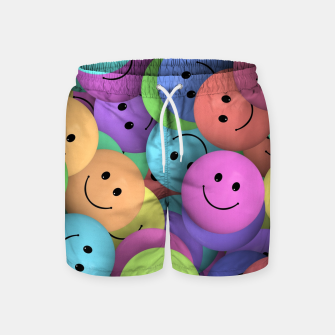 Thumbnail image of Smiley Swim Shorts, Live Heroes