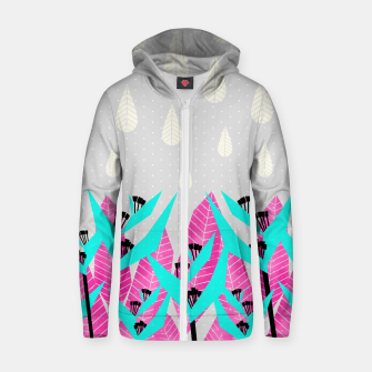 Thumbnail image of It's Raining Paradise | Tropical Flowering Plants Zip up hoodie, Live Heroes