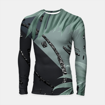 Night Palms Cali Vibes Abstract Glitter Glam #1 #tropical #decor #art  Longsleeve rashguard obraz miniatury