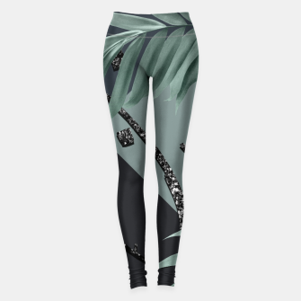 Night Palms Cali Vibes Abstract Glitter Glam #1 #tropical #decor #art  Leggings obraz miniatury