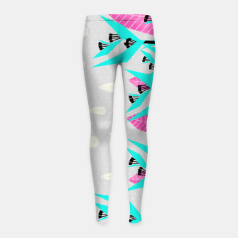 Thumbnail image of It's Raining Paradise | Tropical Flowering Plants Girl's leggings, Live Heroes