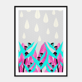 Thumbnail image of It's Raining Paradise | Tropical Flowering Plants Framed poster, Live Heroes
