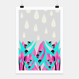Thumbnail image of It's Raining Paradise | Tropical Flowering Plants Poster, Live Heroes
