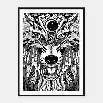 Miniatur Wolf Framed poster, Live Heroes