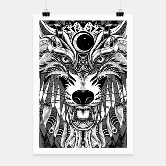 Miniatur Wolf Poster, Live Heroes