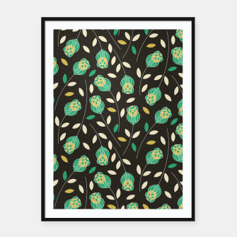 Thumbnail image of Flowers   Yellow And Green Floral Pattern Framed poster, Live Heroes