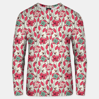 Thumbnail image of Candy Fleur | Vibrant Pink And Green Floral Pattern Unisex sweater, Live Heroes