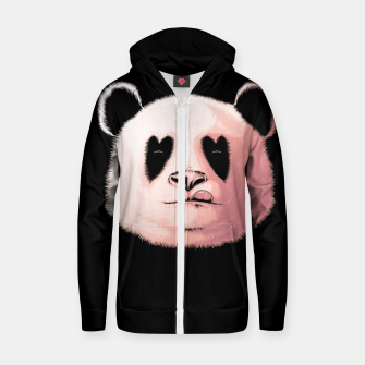 Miniatur Panda in Love Zip up hoodie, Live Heroes