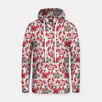 Miniature de image de Candy Fleur | Vibrant Pink And Green Floral Pattern Hoodie, Live Heroes