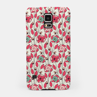 Thumbnail image of Candy Fleur | Vibrant Pink And Green Floral Pattern Samsung Case, Live Heroes