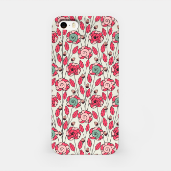 Thumbnail image of Candy Fleur | Vibrant Pink And Green Floral Pattern iPhone Case, Live Heroes