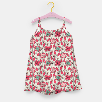 Miniature de image de Candy Fleur | Vibrant Pink And Green Floral Pattern Girl's dress, Live Heroes