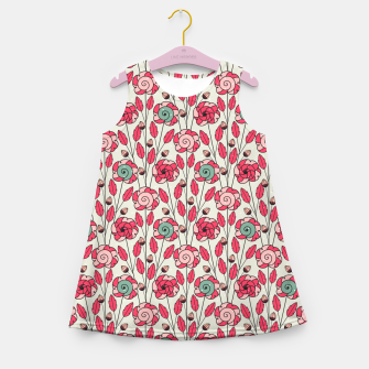 Miniature de image de Candy Fleur | Vibrant Pink And Green Floral Pattern Girl's summer dress, Live Heroes