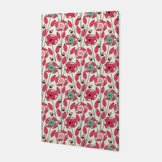 Thumbnail image of Candy Fleur | Vibrant Pink And Green Floral Pattern Canvas, Live Heroes