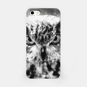 Thumbnail image of owl look digital painting orcbw iPhone Case, Live Heroes