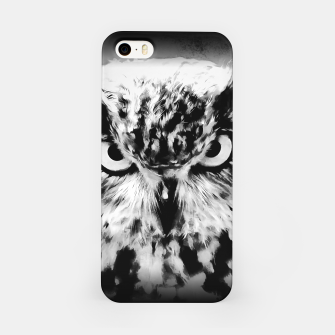 Thumbnail image of owl look digital painting reacbw iPhone Case, Live Heroes