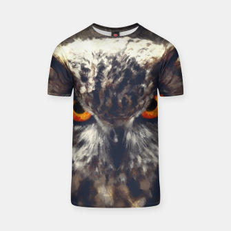 Thumbnail image of owl look digital painting orcfn T-shirt, Live Heroes