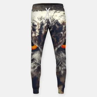 Thumbnail image of owl look digital painting orcfn Sweatpants, Live Heroes