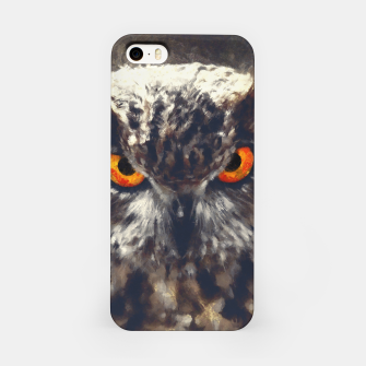 Thumbnail image of owl look digital painting orcfn iPhone Case, Live Heroes