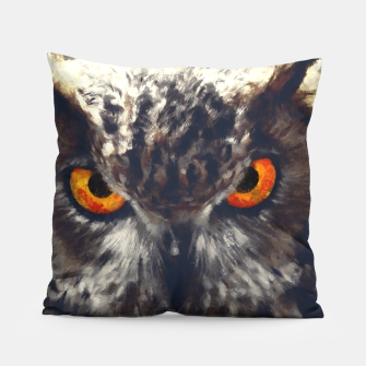 Thumbnail image of owl look digital painting orcfn Pillow, Live Heroes