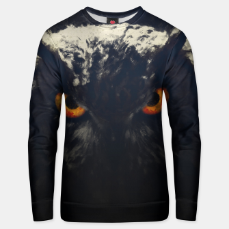 owl look digital painting orcfnd Unisex sweater thumbnail image