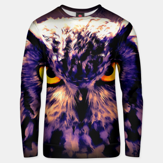 owl look digital painting reacls Unisex sweater thumbnail image