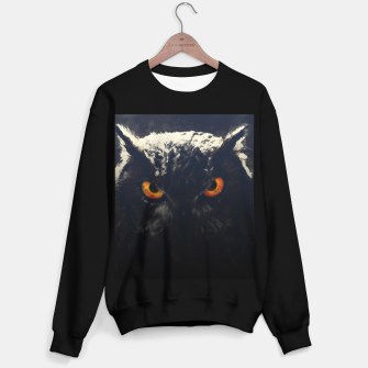 owl look digital painting orcfnd Sweater regular miniature
