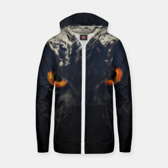 Thumbnail image of owl look digital painting orcfnd Zip up hoodie, Live Heroes