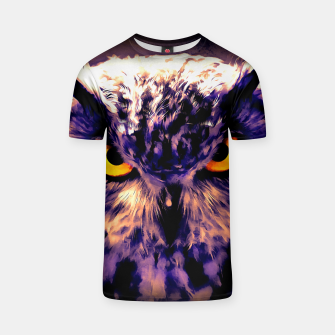 owl look digital painting reacls T-shirt thumbnail image