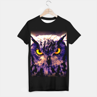 owl look digital painting reacls T-shirt regular thumbnail image