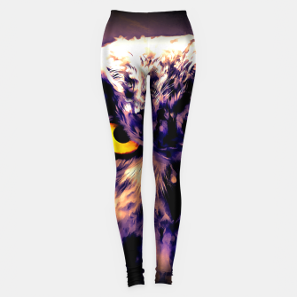 owl look digital painting reacls Leggings thumbnail image