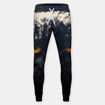owl look digital painting orcfnd Sweatpants miniature