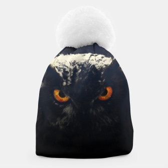 owl look digital painting orcfnd Beanie miniature