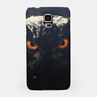 owl look digital painting orcfnd Samsung Case miniature