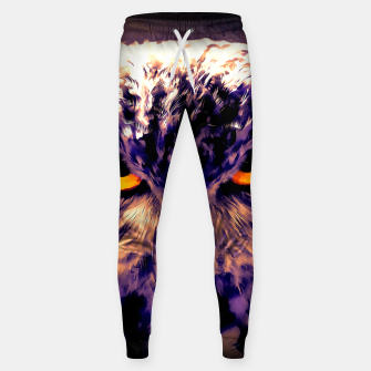 owl look digital painting reacls Sweatpants miniature
