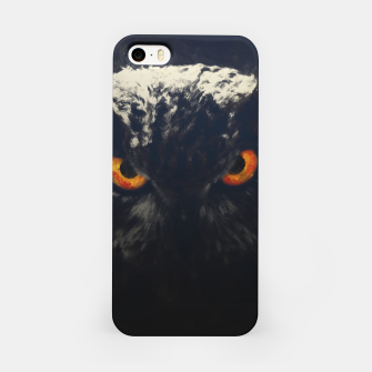 owl look digital painting orcfnd iPhone Case miniature