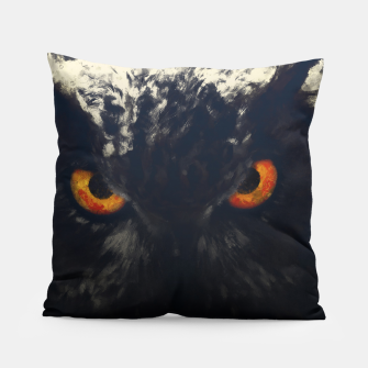 owl look digital painting orcfnd Pillow thumbnail image
