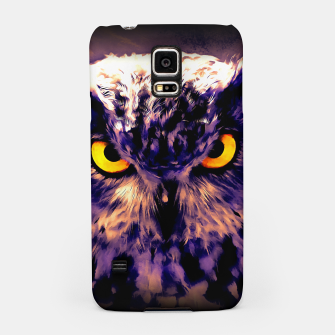 owl look digital painting reacls Samsung Case thumbnail image