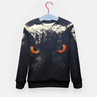owl look digital painting orcfnd Kid's sweater miniature